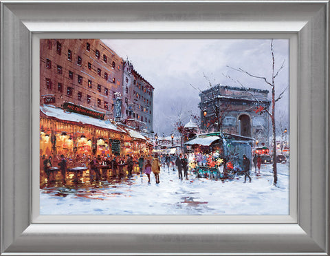 Henderson Cisz, Paris in the Snow, Framed