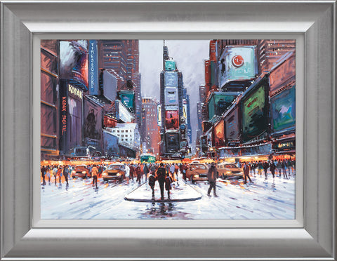 Henderson Cisz, Times Square at Twilight, Framed