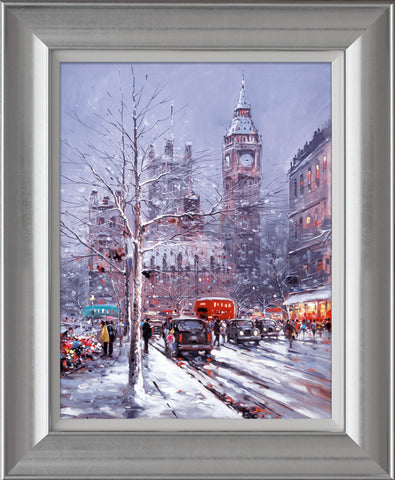 Henderson Cisz, Snow In The City, Framed