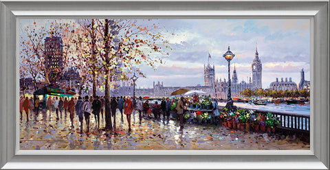 Henderson Cisz, Lamplight, South Bank, Framed
