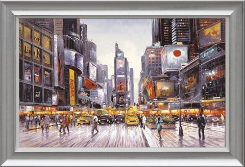Henderson Cisz, Times Square Morning, Framed