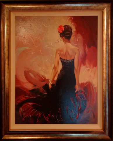 Mark Spain, Red Rose III, Framed