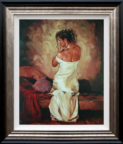 Mark Spain, Satin and Pearls II, Framed