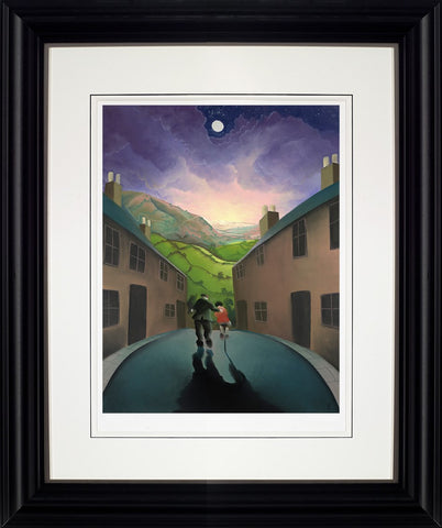 Mackenzie Thorpe, Riding with Grandad, Framed