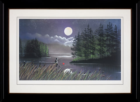Mackenzie Thorpe, I'll Catch You The Moon, Framed