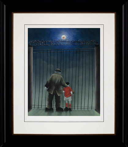 Mackenzie Thorpe, Shankly Gates, Framed