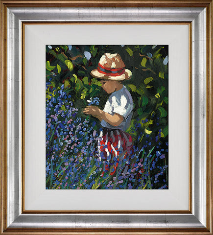 Sherree Valentine Daines, Picking Bluebells, Framed