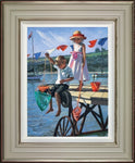 Sherree Valentine Daines, Fishing From the Jetty, Framed