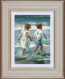 Sherree Valentine Daines, Chasing the Waves, Framed