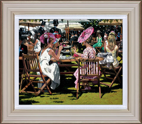Sherree Valentine Daines, Afternoon Tea at Ascot, Framed