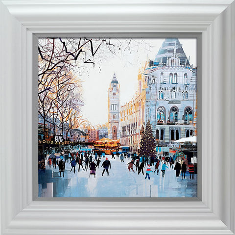Tom Butler, Festive Skaters, Natural History Museum, Framed