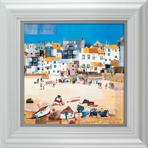 Tom Butler, Castles, St Ives Beach, Framed