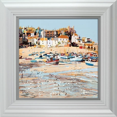Tom Butler, Low Tide, St Ives Bay, Framed