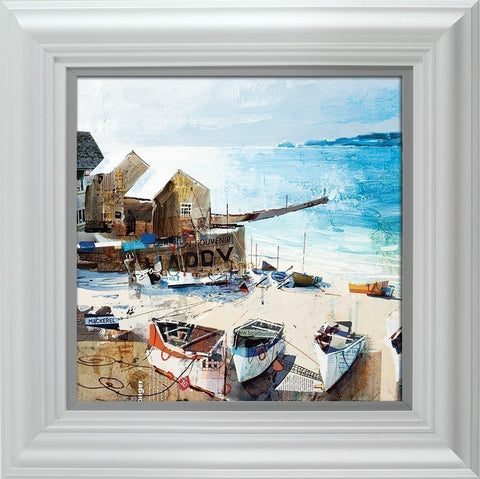 Tom Butler, Reflections, Sennen Cove, Framed