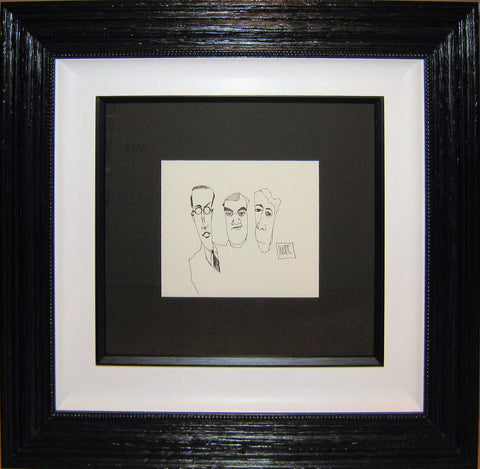 Todd White, Double Shot Original Sketch, Framed