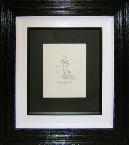 Todd White, My Other Favourite Hat Original Sketch, Framed