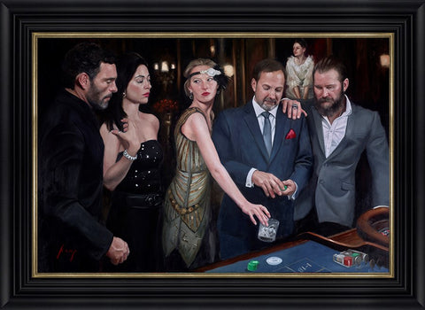 Vincent Kamp, Diamond Roulette, Framed