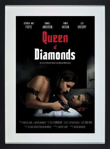 Vincent Kamp, Queen of Diamonds, Framed