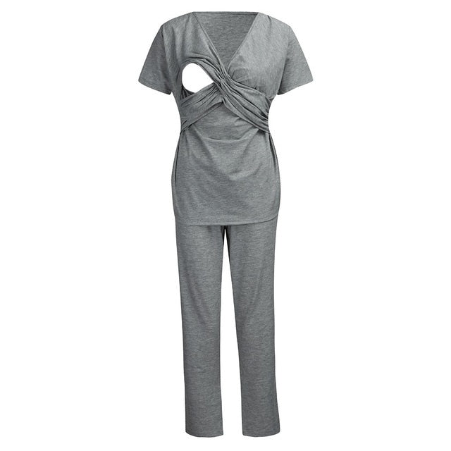 Nursing Pajamas Set Women