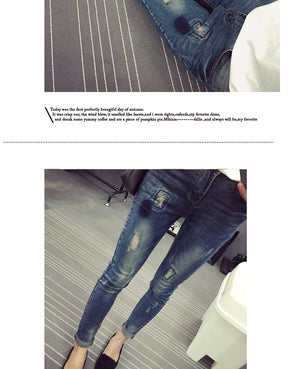 Elastic Waist Stretch Maternity Pencil Jeans Pants