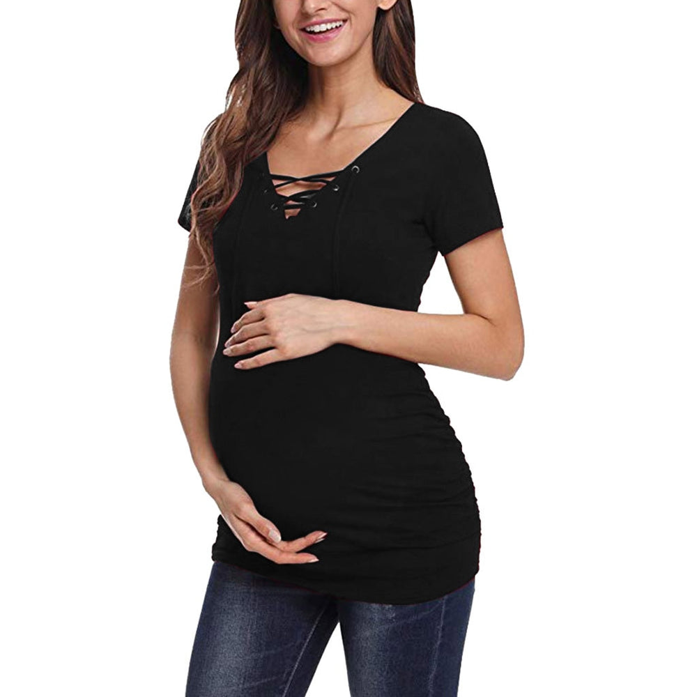 Maternity Women Short Sleeve Pregnant Tops