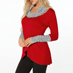 Women Striped Blouses Pregnant Tops