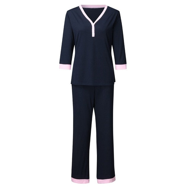 Nursing Pajamas Set Nightie For Feeding Baby Tops