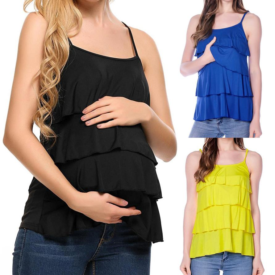 Pregnant women breastfeeding T-shirt maternal breastfeeding vest sleeveless breastfeeding clothes T-shirt