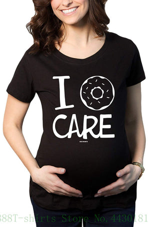 Women's I Donuts Care Print Maternity T Shirt