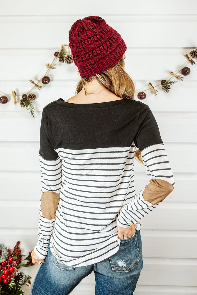 Striped Maternity Nursing Breastfeeding Tops