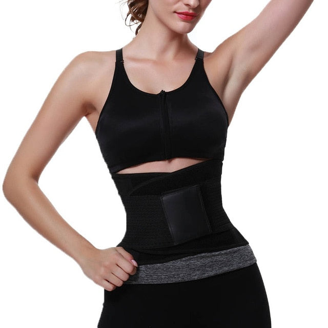 FeelinGirl Belly Girdle Waist Trainer Burn Fat Loss Weight Girdle For Women Body Shaper Postpartum faja reductora cinturilla -B