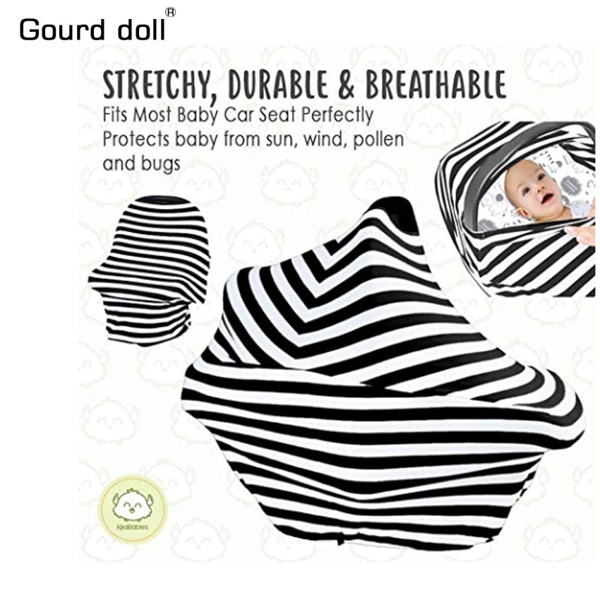 Nursing Breastfeeding Privacy Cover Baby Scarf Infant Car Seat Stroller