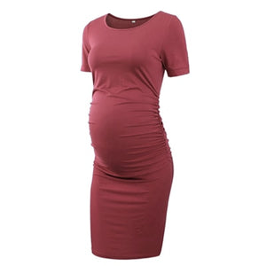 Pack of 3pcs Women's Side Ruched Maternity Dress