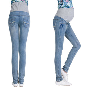 Pregnant Woman Maternity Belly Jeans Pants