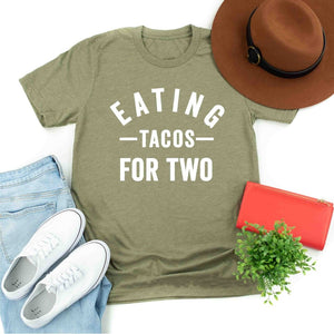Eating Tacos Maternity Pregnancy Women T Shirt