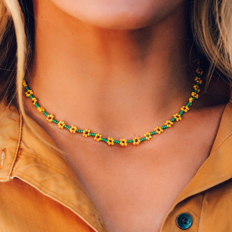 Sunflower Seed Bead Choker