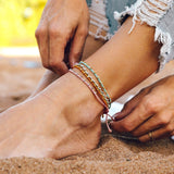 Stitched Beaded Anklet Image 9