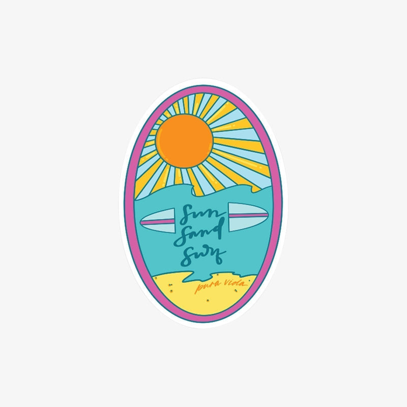 Sun Sand Surf Sticker 1