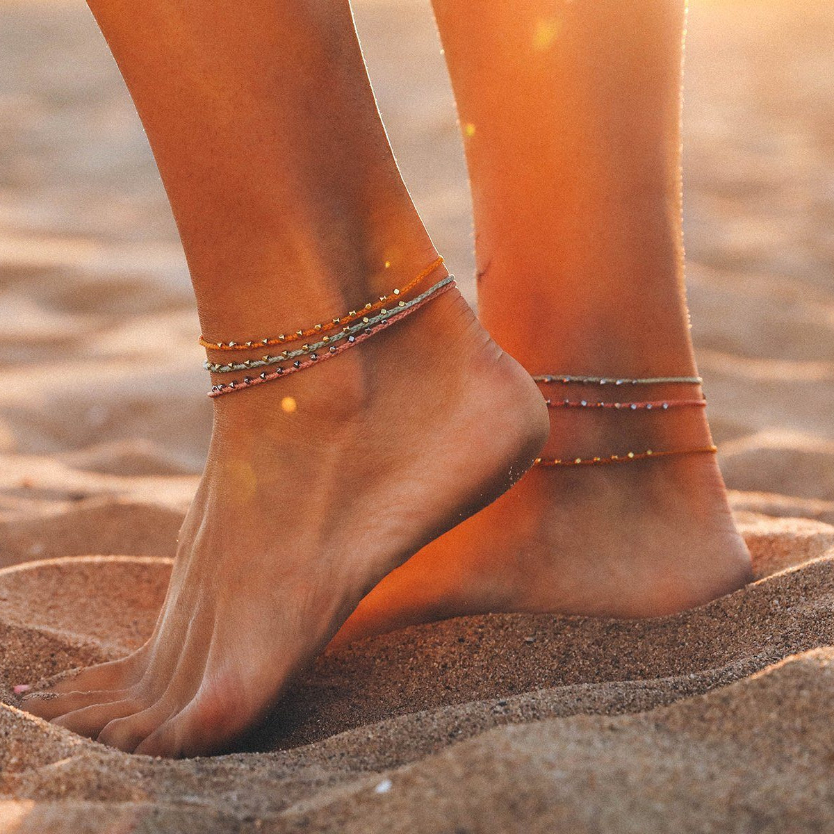 Stitched Beaded Anklet 6