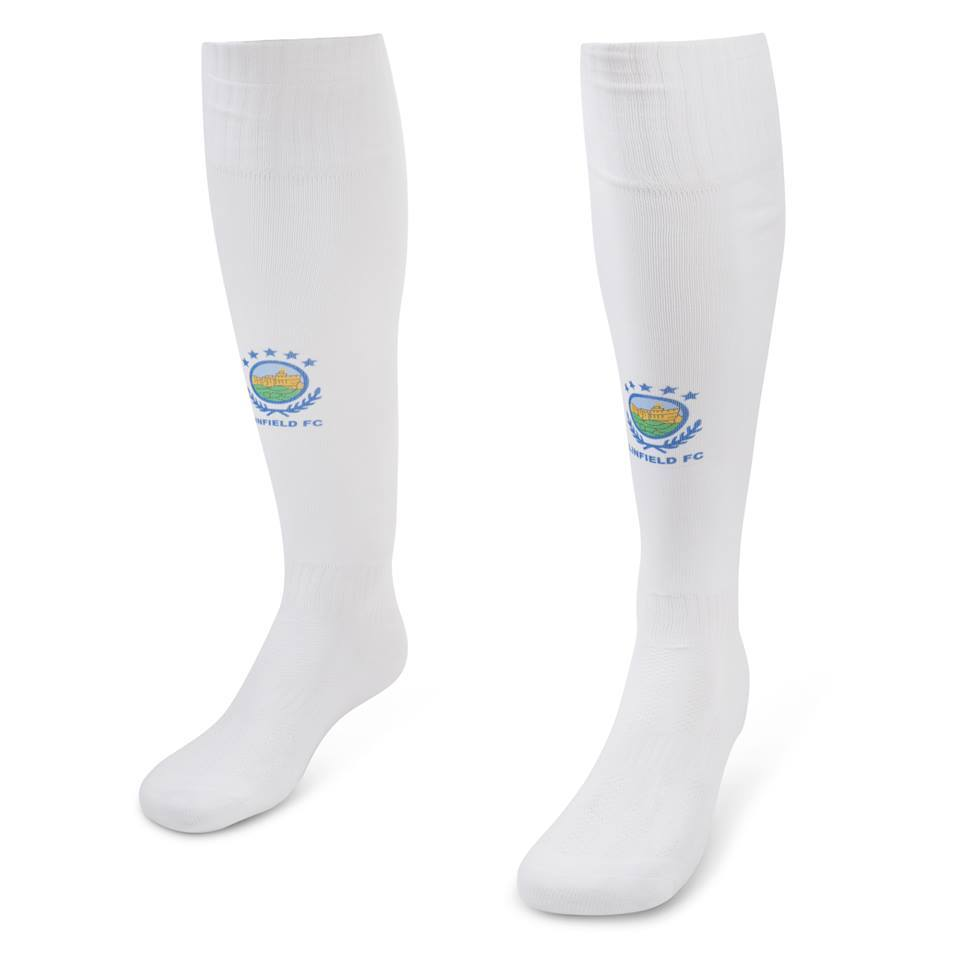 Linfield FC Junior away socks (2018/19 White)