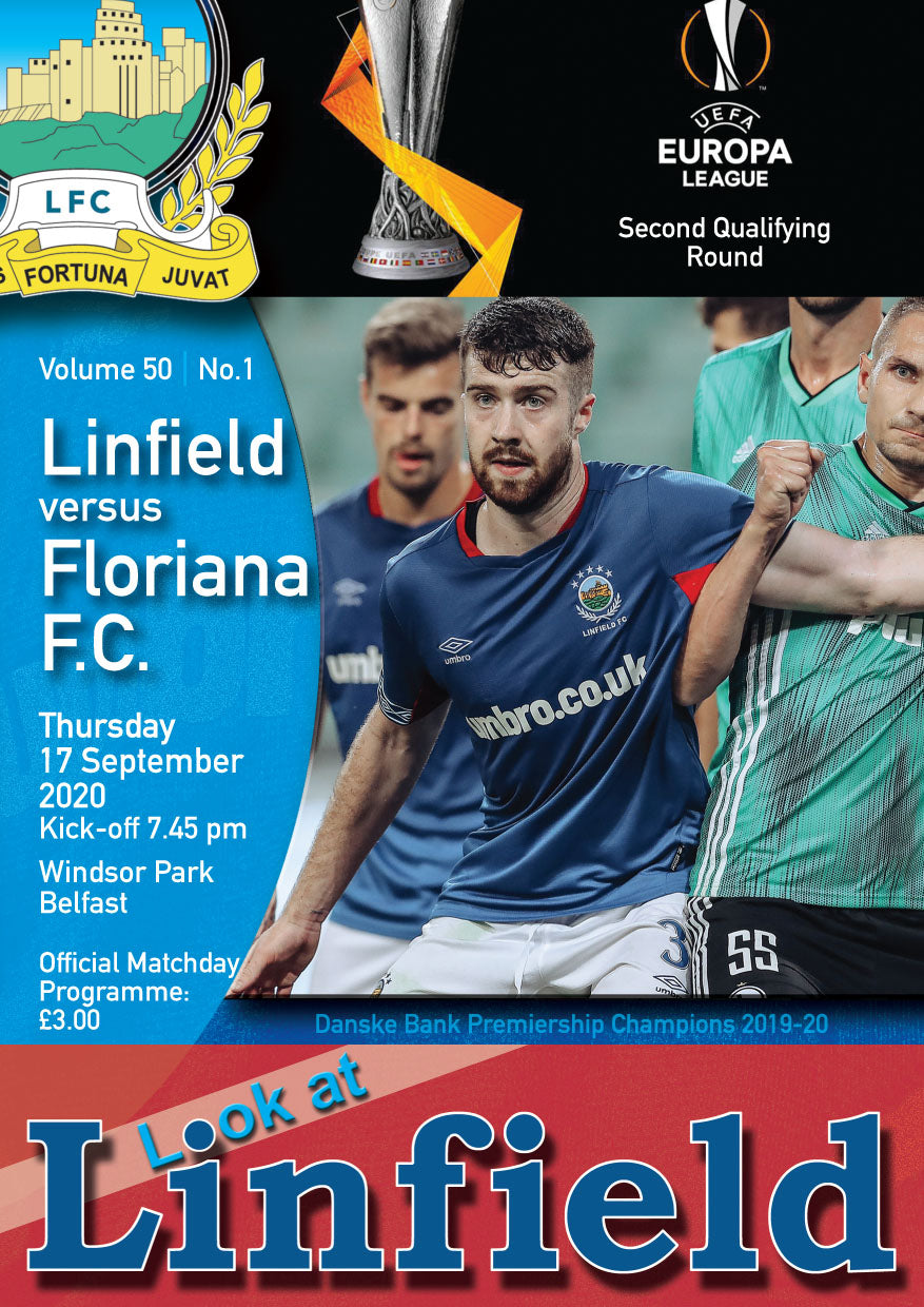 Linfield V Floriana (Official Match Day Program)