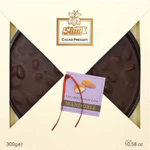 Slitti Dark Chocolate Tortine with Almonds - 300g