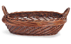 Oval Willow Basket set with side handles