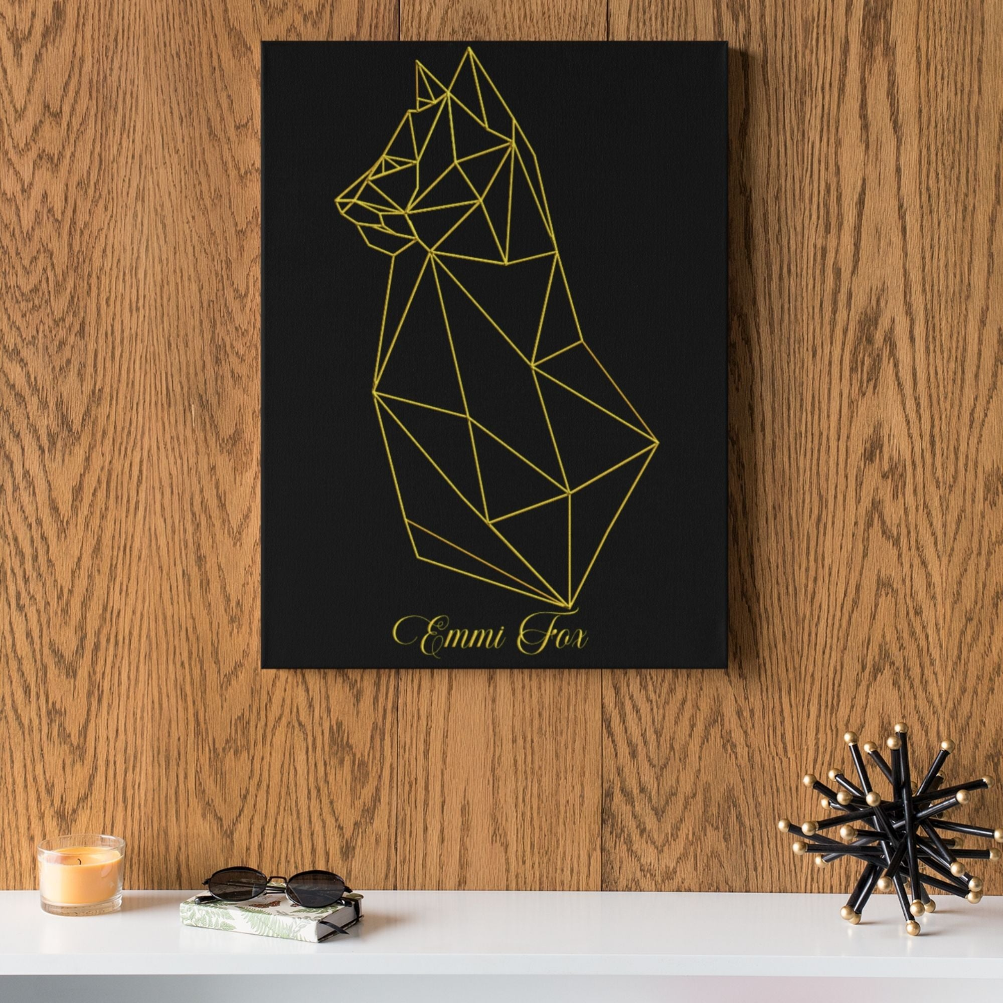 Geometric Cat | Aluminium Fine-Art-Kunstdruck