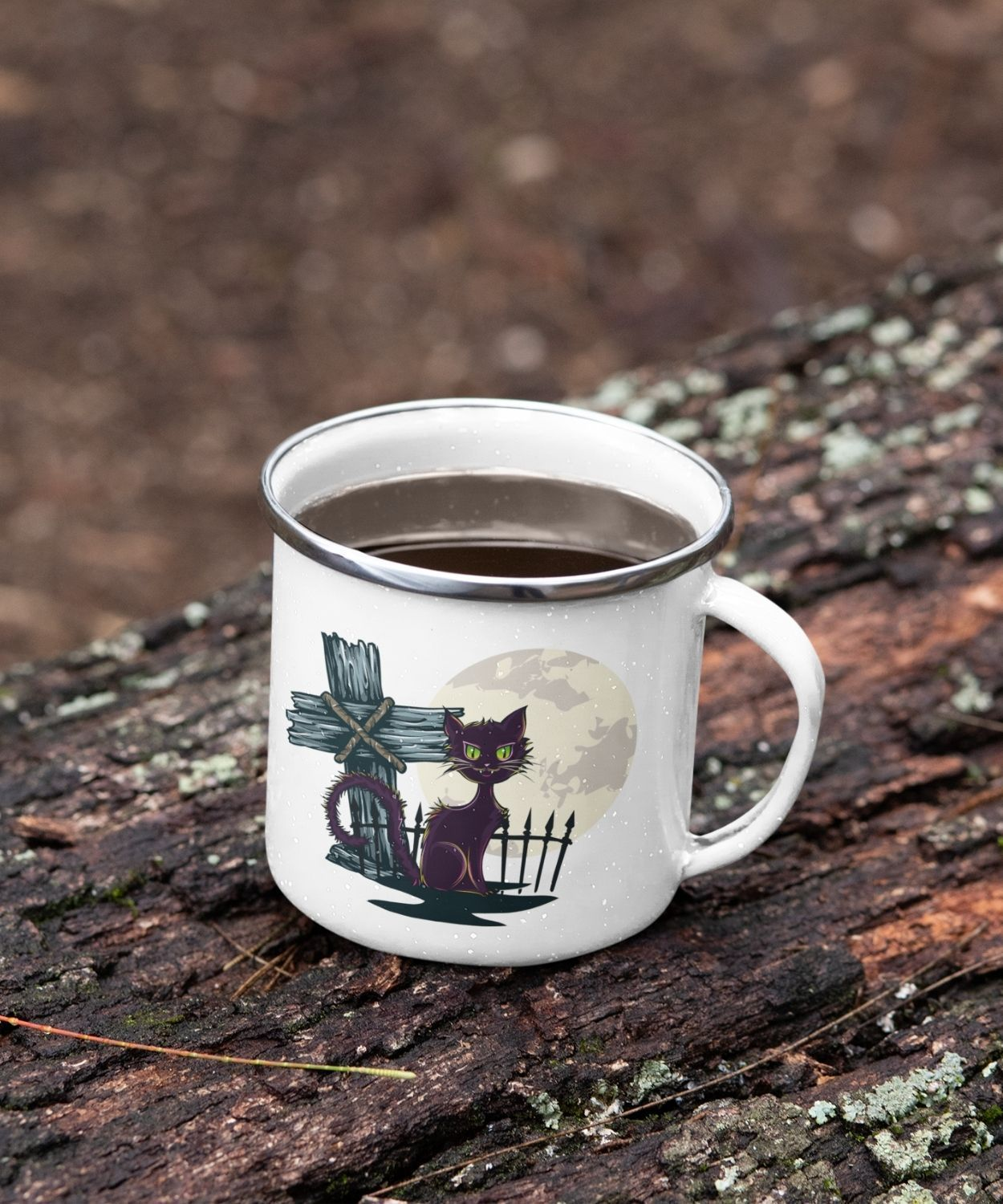 Cat Fairy | Enamel Coffee & Tea Mug
