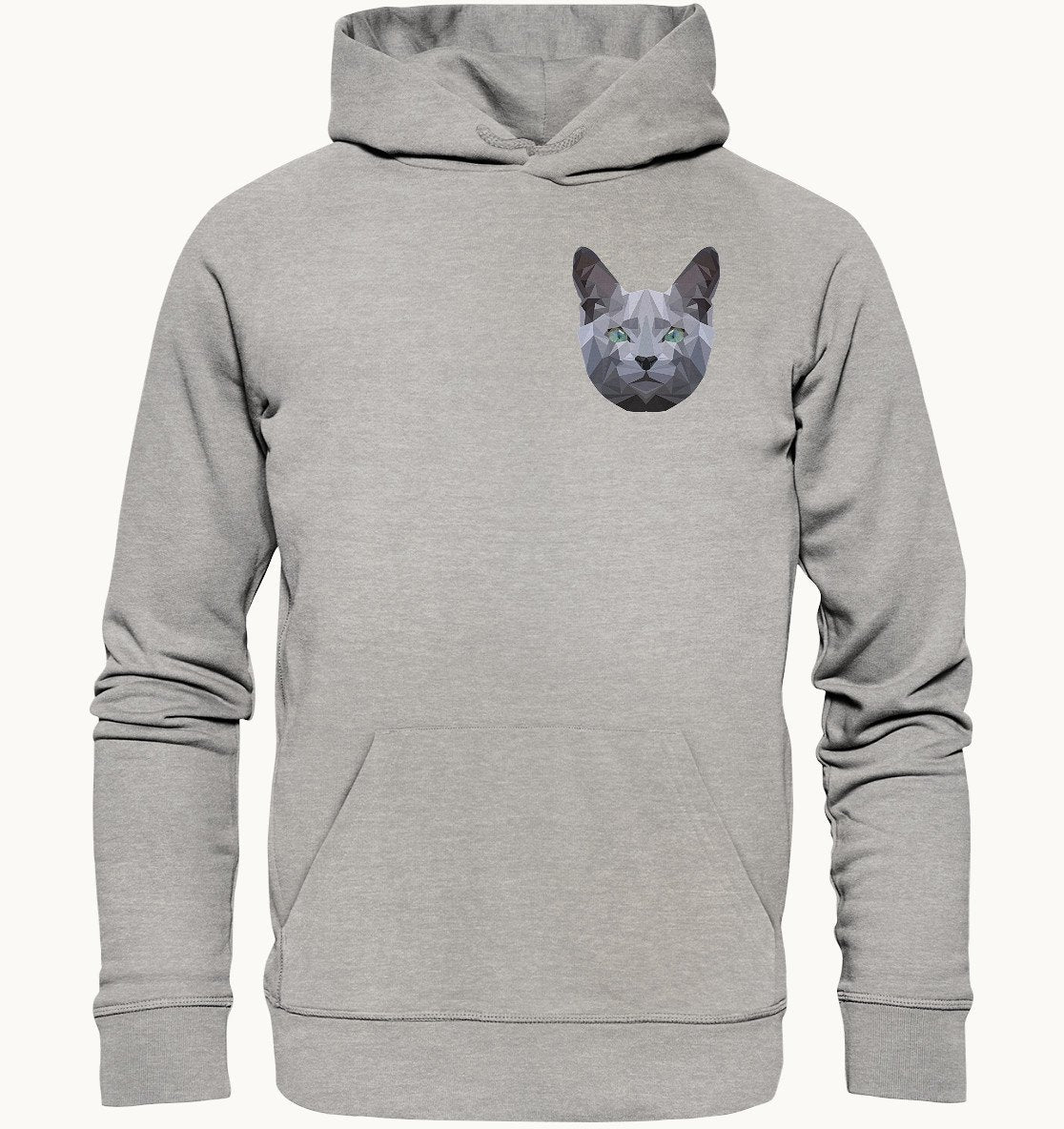 Russian Blue Cat Shapes | Bio-Baumwolle Hoodie