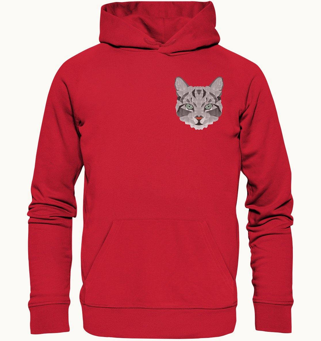 Grey Cat Shapes | Bio-Baumwolle Hoodie