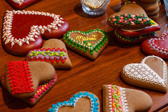 German gingerbread heart tradition for valentines