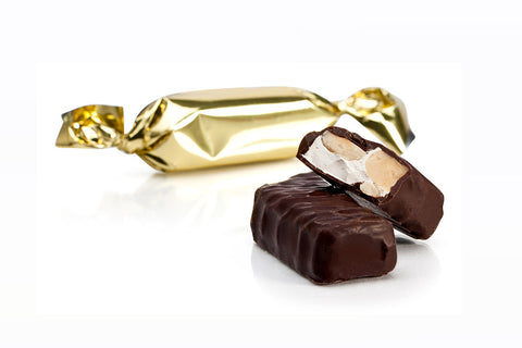 CHOCOLATE COVERED HAZELNUT NOUGAT 250g