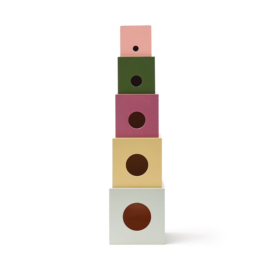 Toy . Wooden Stacking Play Blocks